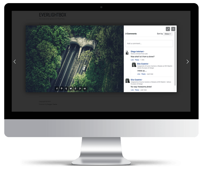 EverlightBox for WordPress demo